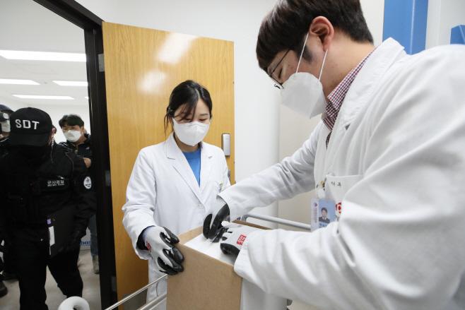 중앙예방접종센터, 화이자 백신 수송