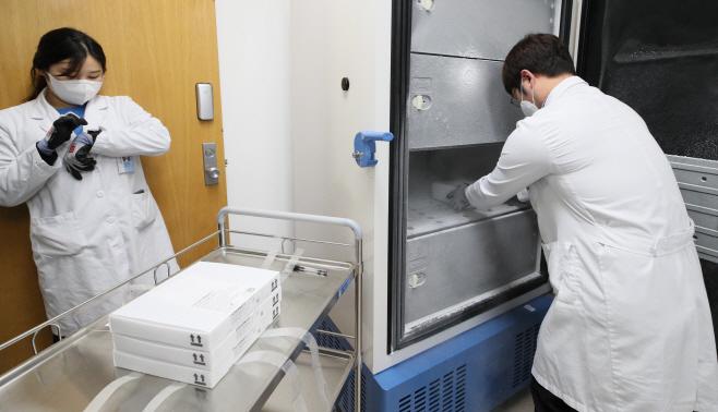 [포토] 화이자 백신, 초저온 냉동고에 보관