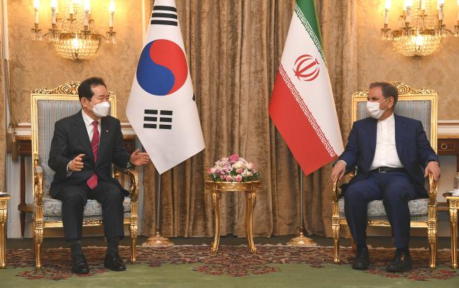 정세균 총리, 이란 에샤크 자한기리 수석 부통령과 회담