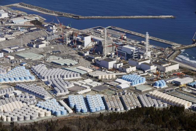 후쿠시마 제1원전에 쌓여있는 오염수 탱크