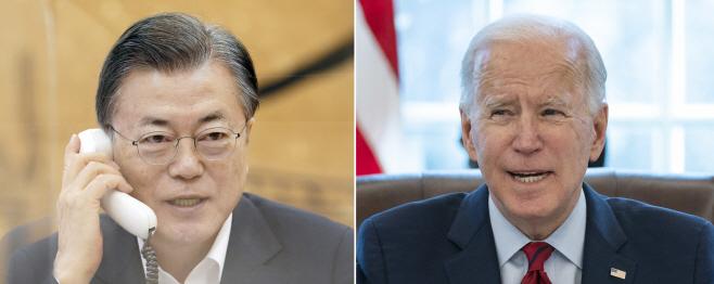 문 대통령, 바이든 미국 대통령과 정상통화