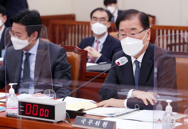 [포토] 외통위 출석 답변하는 정의용 외교부 장관