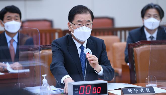 후쿠시마 원전 오염수 방류 결정 관련 답변하는 외교부 장관