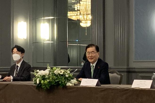 한·미·일 외교장관 회담 참석한 정의용 장관