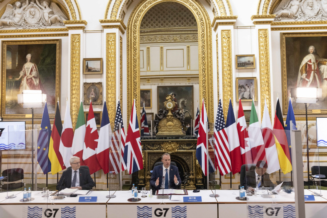 BRITAIN-LONDON-MEETING-G7 FOREIGN AND DEVELOPMENT MINISTERS