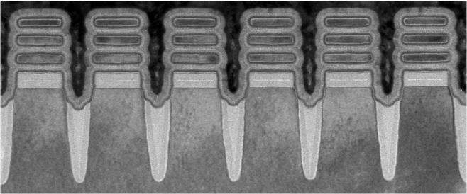 Row of 2 nm nanosheet devices