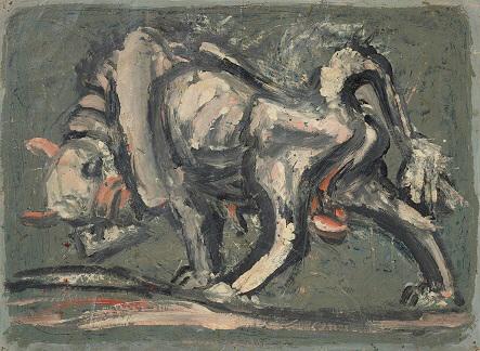 이중섭, 흰소, 1953_54, 30.7x41.6cm