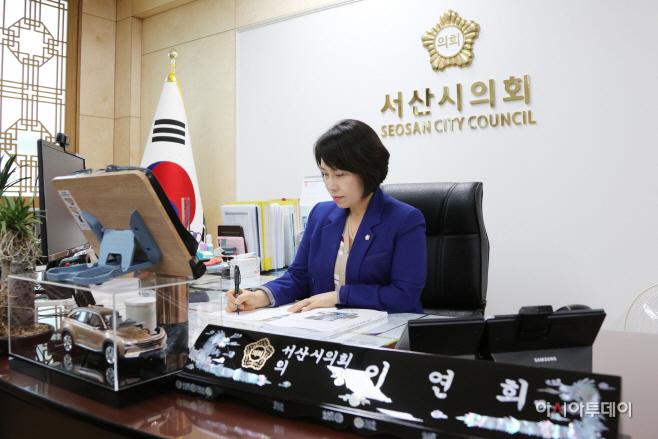 """이연희 서산시의회 의장 """"서산개척단 눈물 닦아 달라"""""""