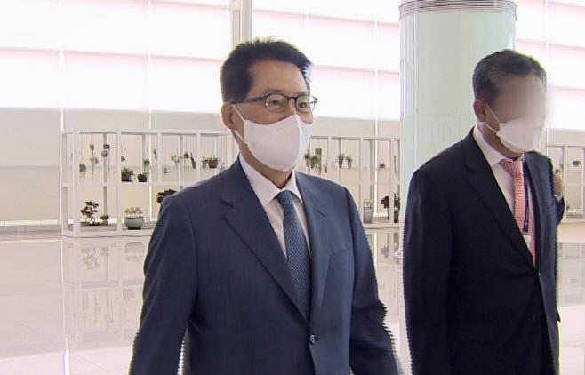 박지원, 한미일 정보기관장 회의 참석차 출국
