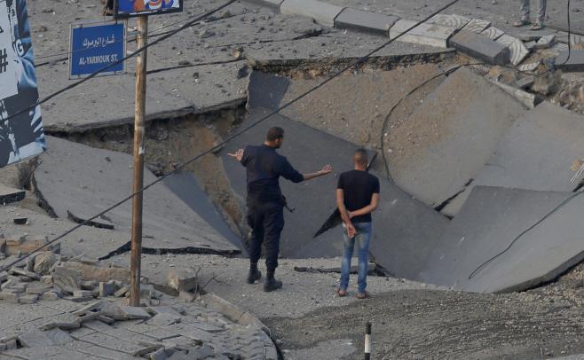 Israel Palestinians <YONHAP NO-5042> (AP)