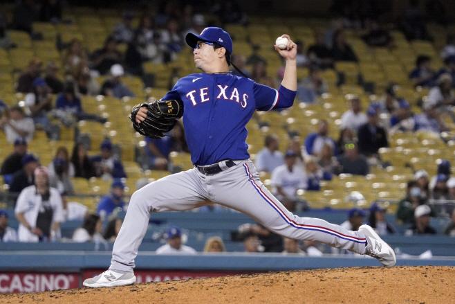 Rangers Dodgers Baseball <YONHAP NO-3957> (AP)