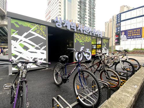상계역 자전거 주차장2