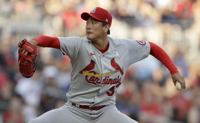 Cardinals Braves Baseball <YONHAP NO-1668> (AP)