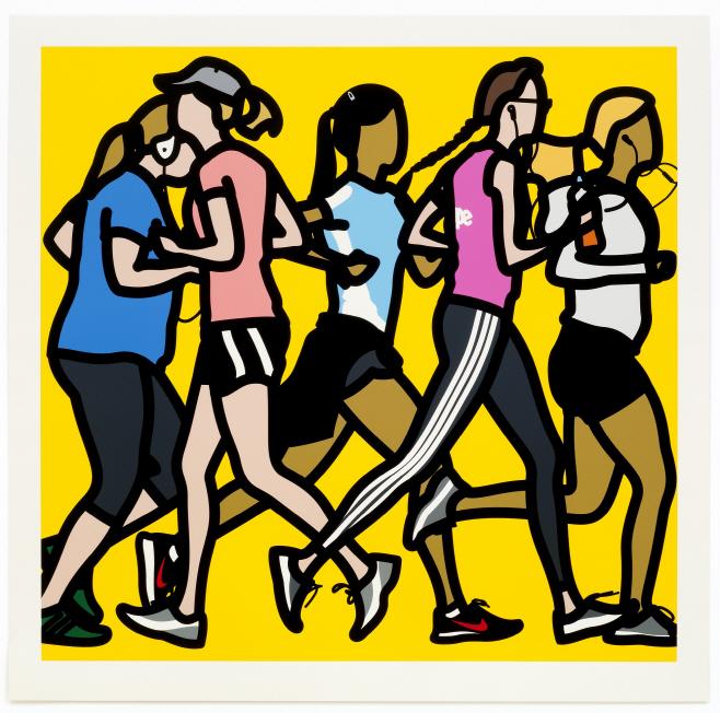 [이미지] 줄리안 오피의 'Running women'