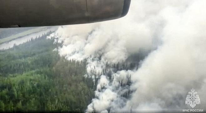Russia Wildfires <YONHAP NO-0144> (AP)
