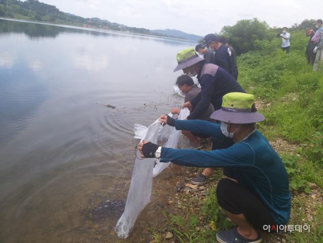 예산군, 어족자원 보호 및 어업인 소득증대 위한 뱀장어 방류