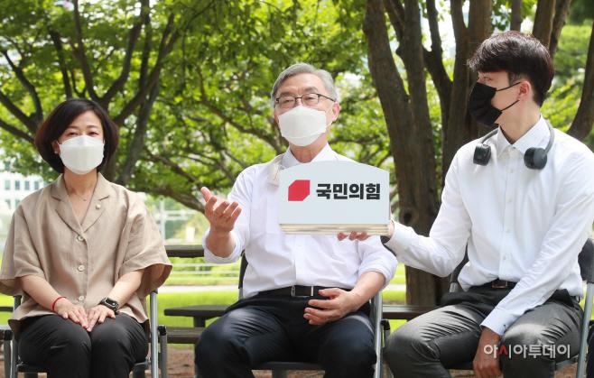 [포토] 국민의힘 대변인단 만난 최재형