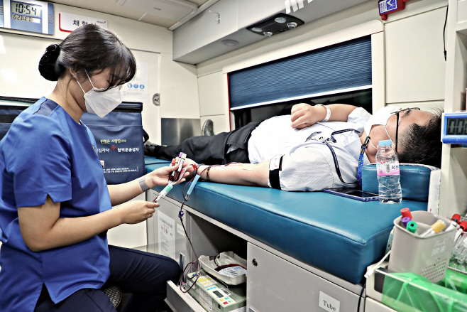 행안부, 혈액공급 부족 문제해결 위한 단체헌혈