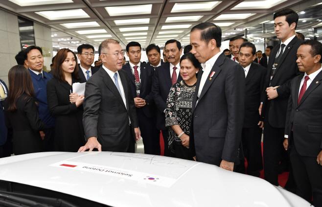 현대차 방문한 조코 위도도 인도네시아 대통령