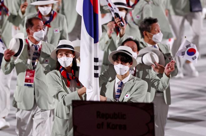 [올림픽] 대한민국 기수는 김연경, 황선우<YONHAP NO-4674>