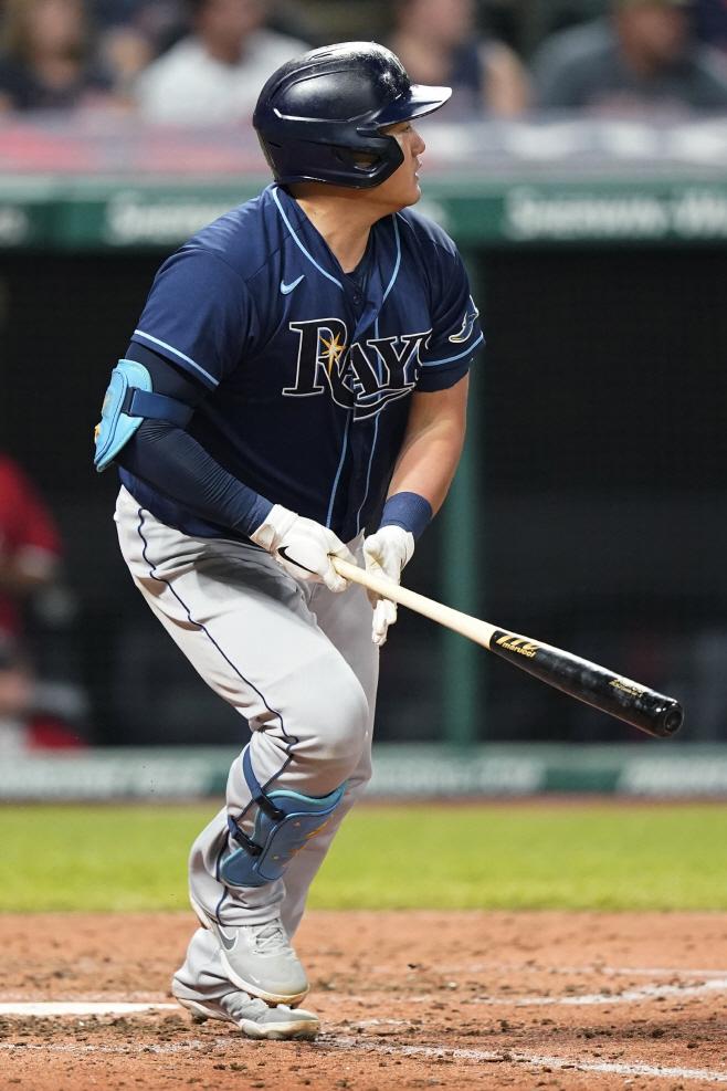 Rays Indians Baseball <YONHAP NO-2117> (AP)