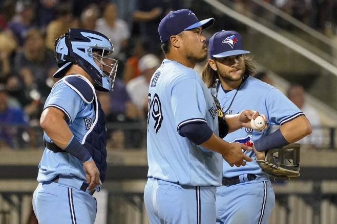 Blue Jays Mets Baseball <YONHAP NO-1791> (AP)