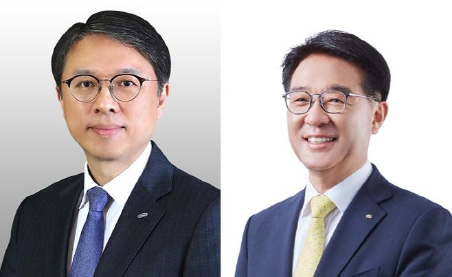 김대환 삼성카드 대표와 이동철 KB국민카드 대표