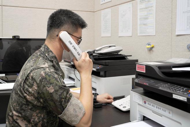 남북연락채널 개통된 서해지구 군 통신선