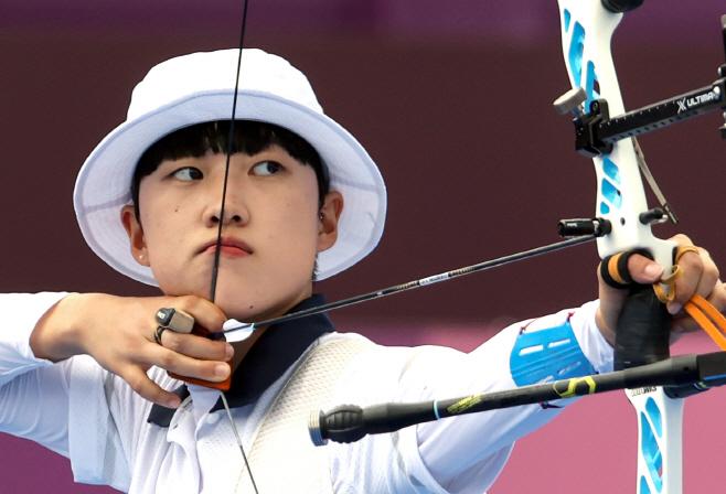 [올림픽] 안산, '8강 진출'
