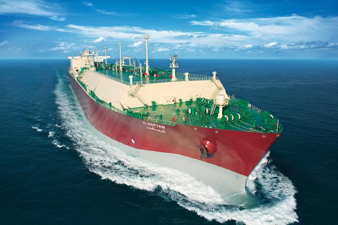 삼성중공업이 건조한 세계최대급 LNG운반선. 출처=삼성중공업
