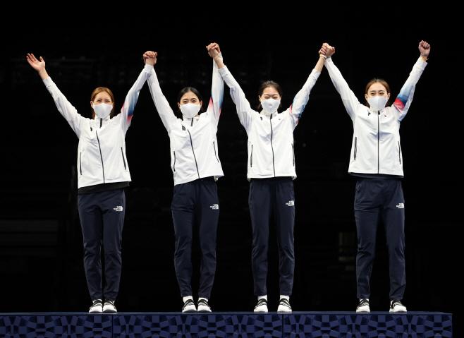 [올림픽] 사브르 여자 단체 '우리가 해냈다'