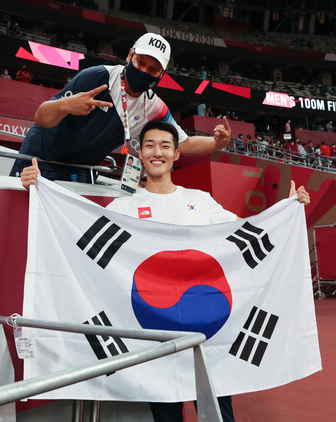 [올림픽] 우상혁, 김도균 코치님 감사해요