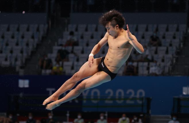 [올림픽] 마지막 시기 연기 선보이는 우하람