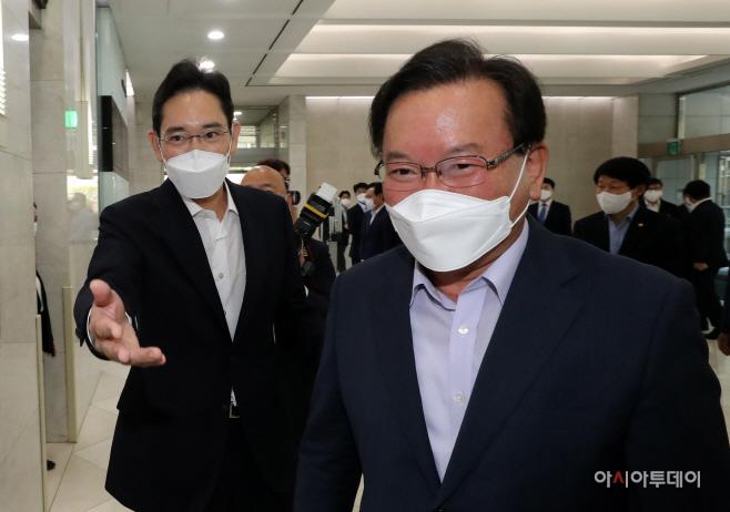 [포토] 삼성 청년 소프트웨어 아카데미 현장 찾은 김부겸-이재용