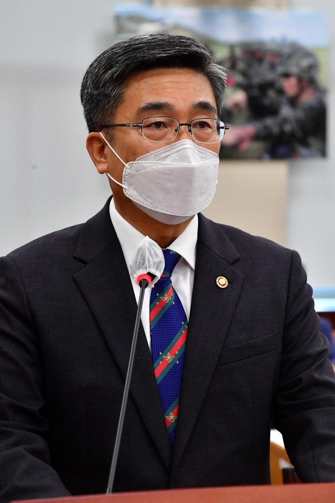 국방위 출석한 서욱 국방부 장관