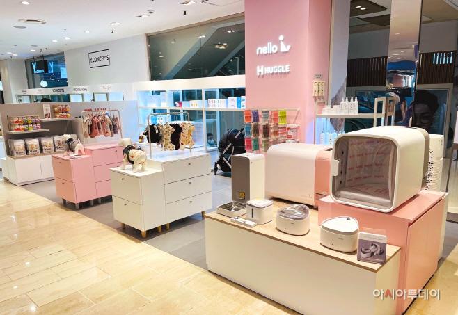 [이미지1] 현대백화점 미아점에 오픈한 넬로 & 허글 브랜드샵