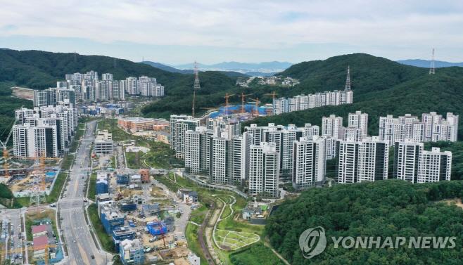 경기도 성남시 대장동 개발지구 연합사진