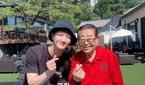 송해 나이 94세, 하동근과 다정한 인증샷 '훈훈'