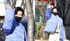 유노윤호 1위에 빛나는 출근길 퍼포먼스!