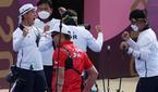 한국 남자 양궁, 단체전서 일본 꺾고 결승 진출...은..