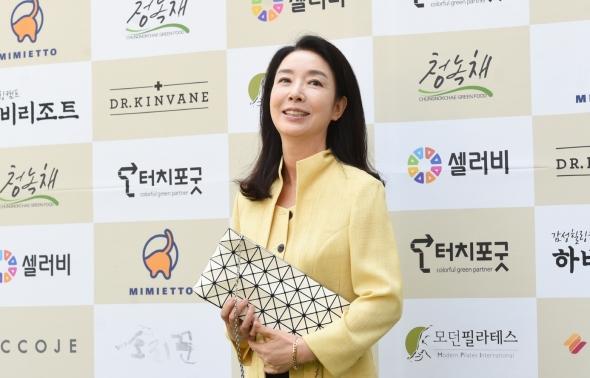 쌀 나눔행사 참석한 김보연
