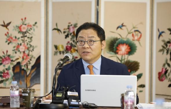 발언하는 안영주 스포츠공정위원장