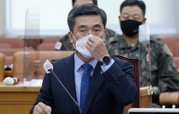 긴급현안보고 출석한 서욱 장관
