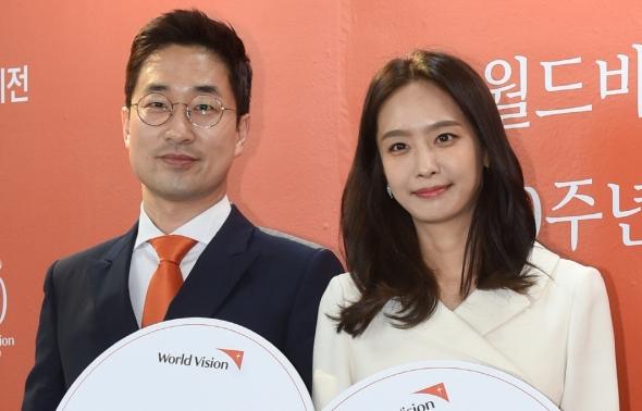 월드비전 70주년 기념식 참석한 정석문-박정아