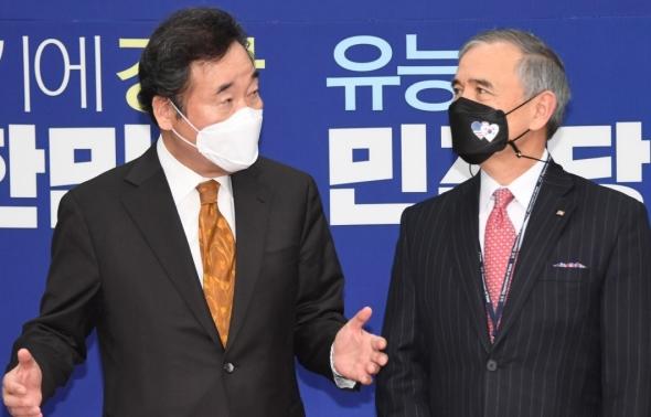해리 해리스 美대사 만난 이낙연 민주당 대표