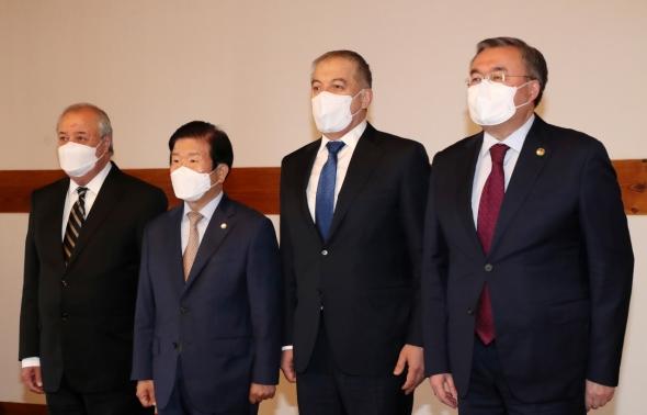 중앙아시아 외교장관 만난 박병석 국회의장
