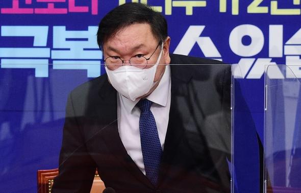 민주당 김태년 원내대표 최고위 참석