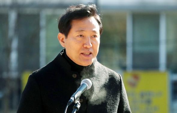 서울시장 출마 오세훈 '5년간 대권 생각 없이 열심히 뛰겠다'