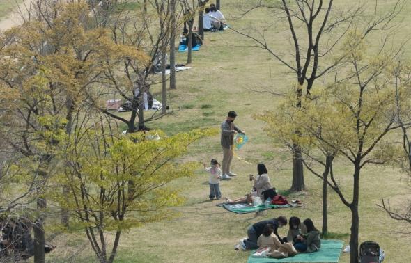 봄나들이 나온 시민들