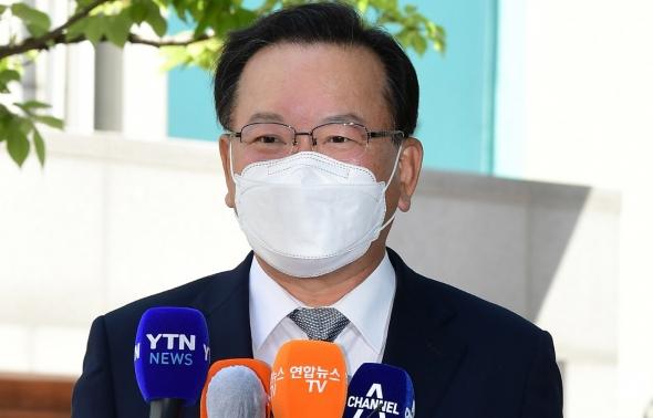 김부겸 첫 출근…'인사청문 준비'
